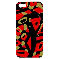 Red Artistic Design Apple Iphone 5 Hardshell Case by Valentinaart
