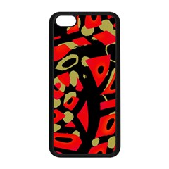 Red Artistic Design Apple Iphone 5c Seamless Case (black) by Valentinaart