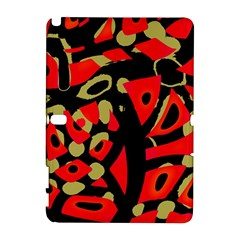 Red Artistic Design Samsung Galaxy Note 10 1 (p600) Hardshell Case by Valentinaart