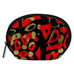Red artistic design Accessory Pouches (Medium)  Front
