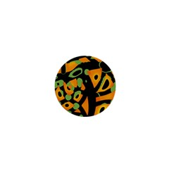 Abstract Animal Print 1  Mini Buttons by Valentinaart