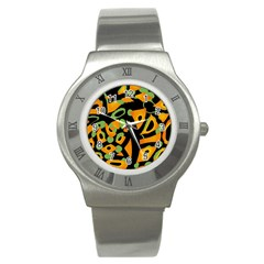 Abstract Animal Print Stainless Steel Watch by Valentinaart
