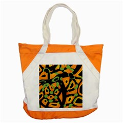 Abstract Animal Print Accent Tote Bag by Valentinaart