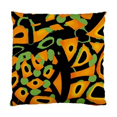 Abstract Animal Print Standard Cushion Case (two Sides) by Valentinaart