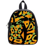 Abstract animal print School Bags (Small)  Front
