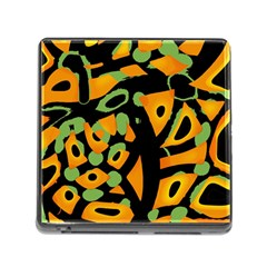 Abstract Animal Print Memory Card Reader (square) by Valentinaart