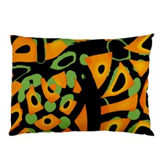Abstract Animal Print Pillow Case (two Sides) by Valentinaart