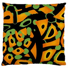 Abstract Animal Print Large Cushion Case (two Sides) by Valentinaart