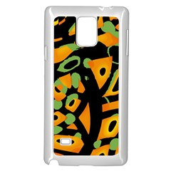 Abstract Animal Print Samsung Galaxy Note 4 Case (white) by Valentinaart