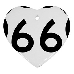 U S  Route 66 Ornament (heart)  by abbeyz71