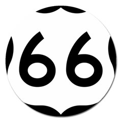 U S  Route 66 Magnet 5  (round) by abbeyz71