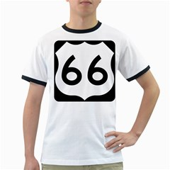 U.S. Route 66 Ringer T-Shirts