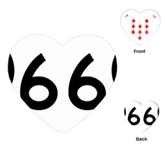 U S  Route 66 Playing Cards (heart)  by abbeyz71
