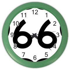 U.S. Route 66 Color Wall Clocks