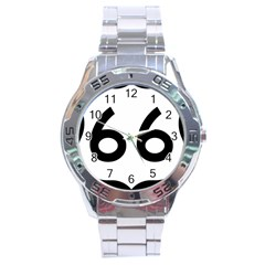 U S  Route 66 Stainless Steel Analogue Watch by abbeyz71