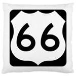 U.S. Route 66 Large Cushion Case (Two Sides) Back