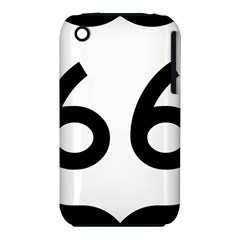 U S  Route 66 Apple Iphone 3g/3gs Hardshell Case (pc+silicone) by abbeyz71