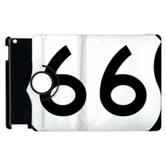 U S  Route 66 Apple Ipad 3/4 Flip 360 Case by abbeyz71