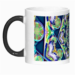 Power Spiral Polygon Blue Green White Morph Mugs by EDDArt