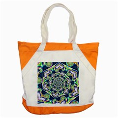 Power Spiral Polygon Blue Green White Accent Tote Bag by EDDArt