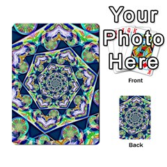 Power Spiral Polygon Blue Green White Multi Purpose Cards (rectangle)  by EDDArt