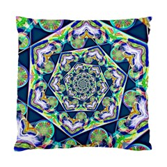 Power Spiral Polygon Blue Green White Standard Cushion Case (two Sides) by EDDArt