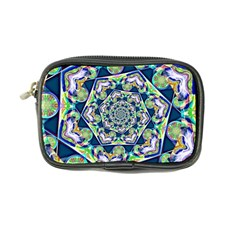Power Spiral Polygon Blue Green White Coin Purse by EDDArt