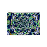 Power Spiral Polygon Blue Green White Cosmetic Bag (Medium)  Front