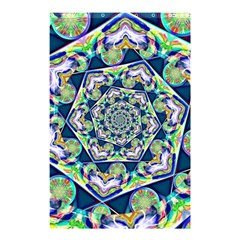 Power Spiral Polygon Blue Green White Shower Curtain 48  X 72  (small)  by EDDArt