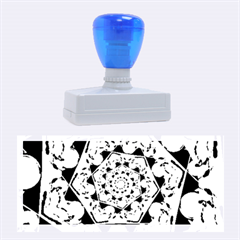 Power Spiral Polygon Blue Green White Rubber Stamps (large) by EDDArt
