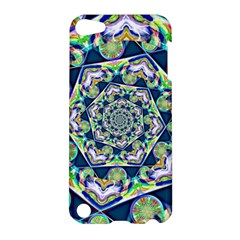 Power Spiral Polygon Blue Green White Apple Ipod Touch 5 Hardshell Case by EDDArt