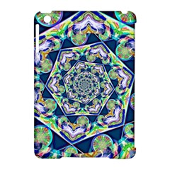 Power Spiral Polygon Blue Green White Apple Ipad Mini Hardshell Case (compatible With Smart Cover) by EDDArt