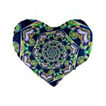 Power Spiral Polygon Blue Green White Standard 16  Premium Heart Shape Cushions Front