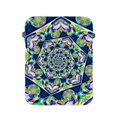 Power Spiral Polygon Blue Green White Apple Ipad 2/3/4 Protective Soft Cases by EDDArt