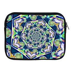 Power Spiral Polygon Blue Green White Apple Ipad 2/3/4 Zipper Cases by EDDArt