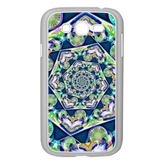 Power Spiral Polygon Blue Green White Samsung Galaxy Grand Duos I9082 Case (white) by EDDArt