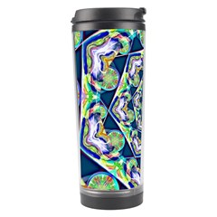Power Spiral Polygon Blue Green White Travel Tumbler by EDDArt