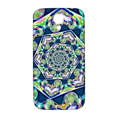 Power Spiral Polygon Blue Green White Samsung Galaxy S4 I9500/i9505  Hardshell Back Case by EDDArt