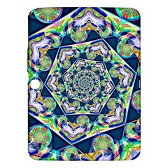 Power Spiral Polygon Blue Green White Samsung Galaxy Tab 3 (10 1 ) P5200 Hardshell Case  by EDDArt