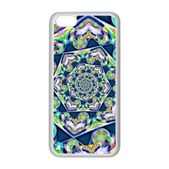 Power Spiral Polygon Blue Green White Apple Iphone 5c Seamless Case (white) by EDDArt