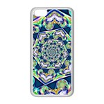 Power Spiral Polygon Blue Green White Apple iPhone 5C Seamless Case (White) Front