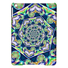 Power Spiral Polygon Blue Green White Ipad Air Hardshell Cases by EDDArt