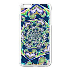 Power Spiral Polygon Blue Green White Apple Iphone 6 Plus/6s Plus Enamel White Case by EDDArt