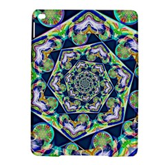Power Spiral Polygon Blue Green White Ipad Air 2 Hardshell Cases by EDDArt