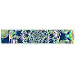 Power Spiral Polygon Blue Green White Flano Scarf (large) by EDDArt