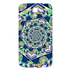 Power Spiral Polygon Blue Green White Samsung Galaxy Mega I9200 Hardshell Back Case by EDDArt
