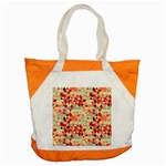 Modern Hipster Triangle Pattern Red Blue Beige Accent Tote Bag Front