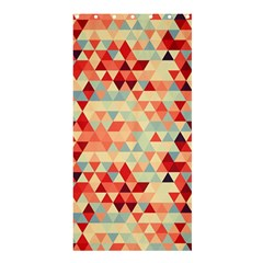Modern Hipster Triangle Pattern Red Blue Beige Shower Curtain 36  X 72  (stall)  by EDDArt