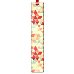 Modern Hipster Triangle Pattern Red Blue Beige Large Book Marks by EDDArt