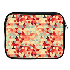 Modern Hipster Triangle Pattern Red Blue Beige Apple Ipad 2/3/4 Zipper Cases by EDDArt